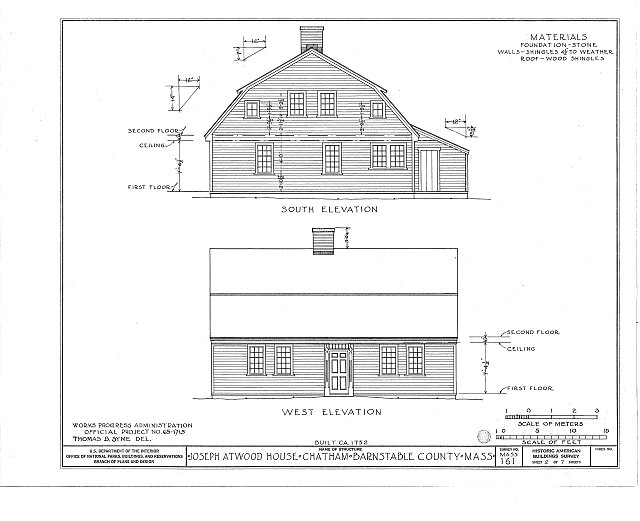 HABS MASS,1-CHAT,2- (sheet 2 of 7) - Joseph Atwood House, Atwood Street, Chatham, Barnstable County, MA
