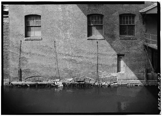 3.  PENSTOCK ENTRANCES WITH RACKS, APPLETON MILLS, HAMILTON CANAL 1976 - Hamilton Canal, Jackson Street vicinity, Lowell, Middlesex County, MA
