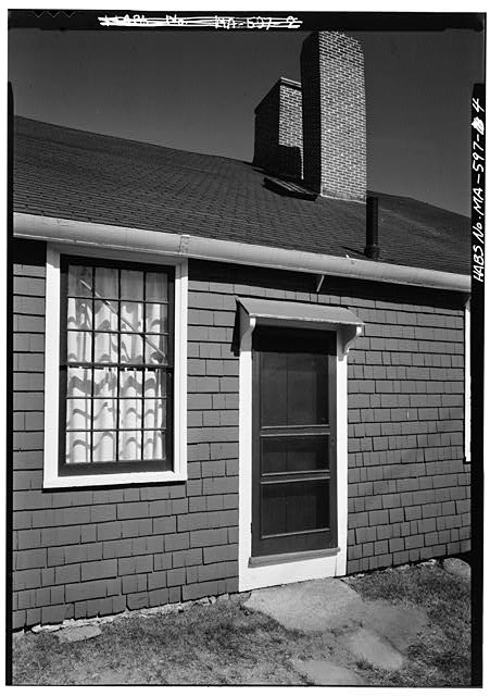 Detail of west elevation - John Quincy Adams Birthplace, 141 Franklin Street, Quincy, Norfolk County, MA