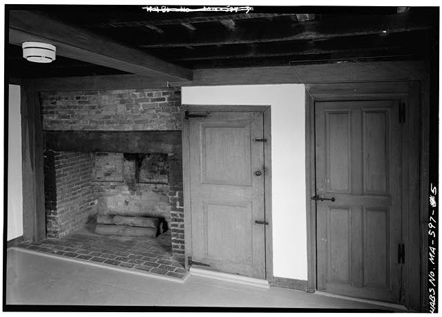 Southeast room (law office), north wall - John Quincy Adams Birthplace, 141 Franklin Street, Quincy, Norfolk County, MA