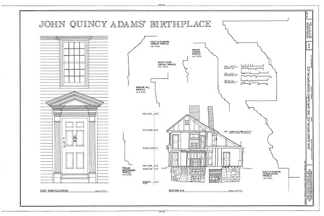 HABS MASS,11-QUI,7- (sheet 3 of 3) - John Quincy Adams Birthplace, 141 Franklin Street, Quincy, Norfolk County, MA