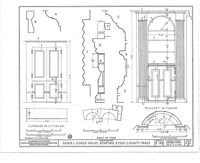 HABS MASS,5-BOX,3- (sheet 8 of 10) - Daniel Gould House, Georgetown Road, Boxford, Essex County, MA