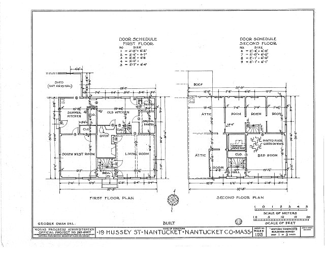 HABS MASS,10-NANT,10- (sheet 1 of 3) - 19 Hussey Street (House), Nantucket, Nantucket County, MA
