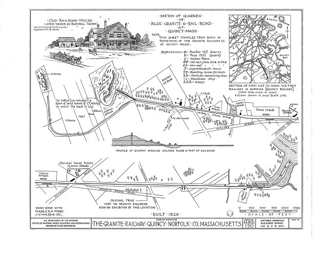 HABS MASS,11-QUI,4- (sheet 3 of 6) - Granite Railway, Pine Hill Quarry to Neponset River, Quincy, Norfolk County, MA