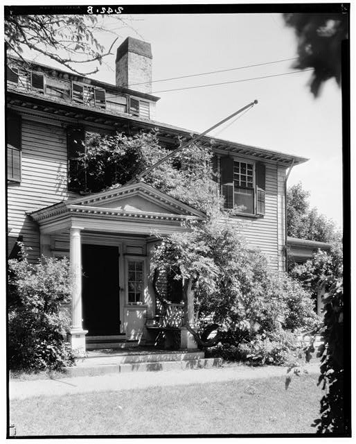 2.  Historic American Buildings Survey Arthur C. Haskell, Photographer August, 1934 (b) Ext- Detail entrance porch from southwest - Colonel Josiah Quincy House, 20 Muirhead Street, Quincy, Norfolk County, MA