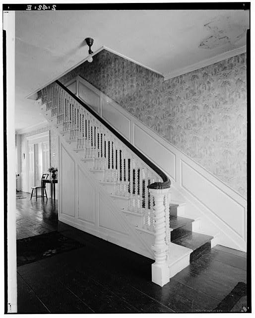 5.  Historic American Buildings Survey Arthur C. Haskell, Photographer August, 1934 (e) Int- Detail main staircase - Colonel Josiah Quincy House, 20 Muirhead Street, Quincy, Norfolk County, MA