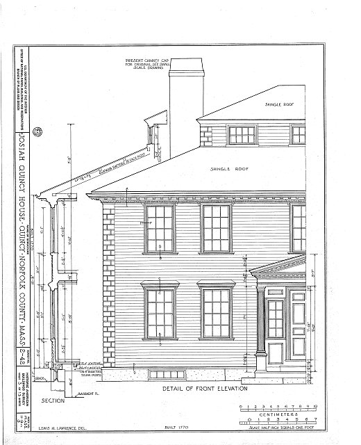 HABS MASS,11-QUI,3- (sheet 3 of 13) - Colonel Josiah Quincy House, 20 Muirhead Street, Quincy, Norfolk County, MA