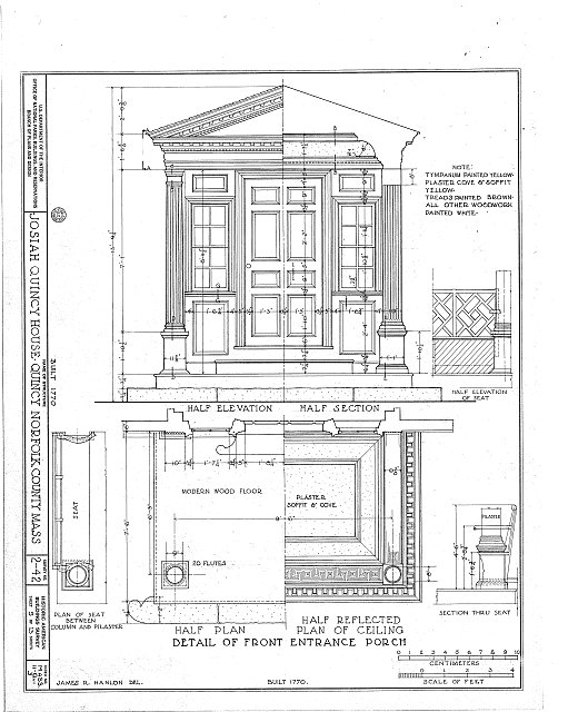 HABS MASS,11-QUI,3- (sheet 5 of 13) - Colonel Josiah Quincy House, 20 Muirhead Street, Quincy, Norfolk County, MA