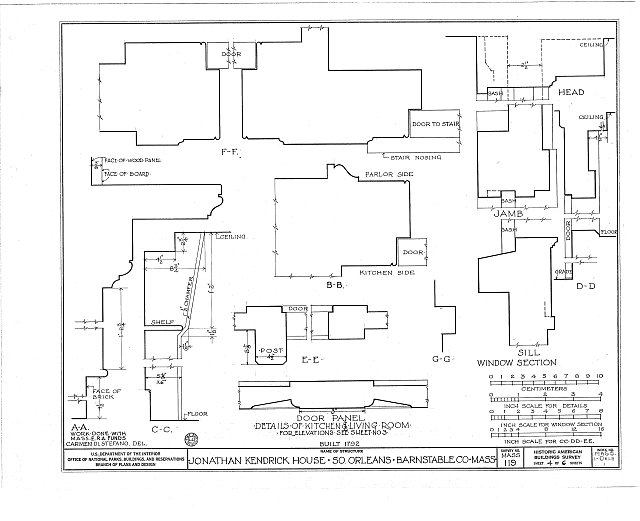 HABS MASS,1-ORLS,1- (sheet 4 of 6) - Jonathan Kendrick House, State Highway, South Orleans, Barnstable County, MA