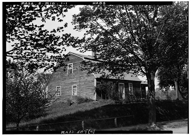 1.  Historic American Buildings Survey Frank O. Branzetti, Photographer May 12, 1941 (a) EXT.- FRONT & SIDE, LOOKING NORTHEAST - Bradstreet House, Middleton, Essex County, MA