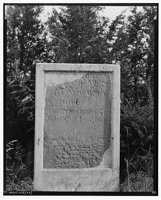 1.  Historic American Buildings Survey Frank O. Branzetti, Photographer Aug. 27, 1940 (zz) 4- MILE STONE, at PARKER RIVER BRIDGE, NEWBURY - Milestones UU, VV, WW, XX, YY & ZZ, Various Newbury locations, Newbury Old Town, Essex County, MA