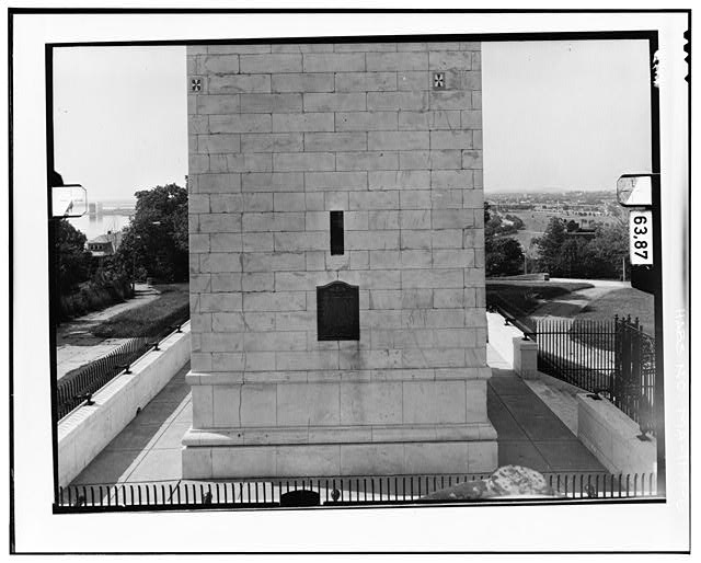 6.  NORTH ELEVATION, LEVEL 1 Copy photograph of photogrammetric plate LC-HABS-GS11-D-1981-N1R. - Dorchester Heights Monument, Thomas Park, Boston, Suffolk County, MA