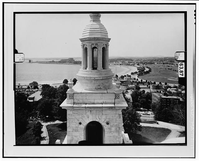 11.  NORTH ELEVATION, LEVEL 5 Copy photograph of photogrammetric plate LC-HABS-GS11-D-1981-N6R. - Dorchester Heights Monument, Thomas Park, Boston, Suffolk County, MA