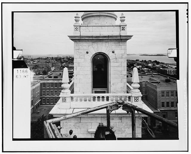 17.  WEST ELEVATION, LEVEL 4 Copy photograph of photogrammetric plate LC-HABS-GS11-D-1981-W5R. - Dorchester Heights Monument, Thomas Park, Boston, Suffolk County, MA