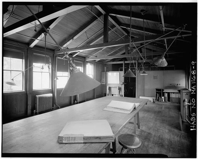9.  SECOND FLOOR, LOOKING NORTH, DRAFTING ROOM. - Fairsted, 99 Warren Street, Brookline, Norfolk County, MA