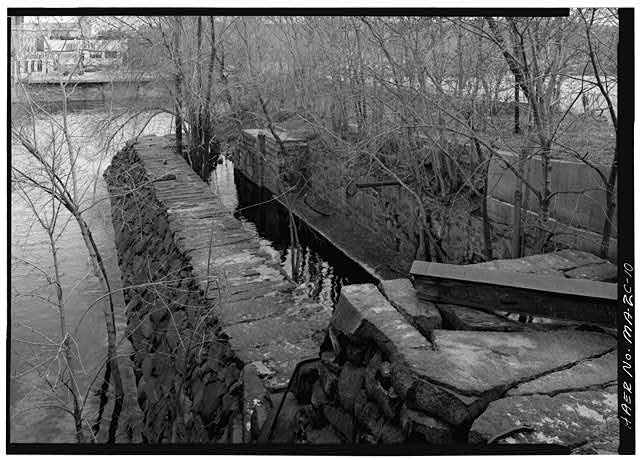 10.  LOWER LOCK CHAMBER LOOKING EAST TOWARDS THE CONCORD RIVER 1976 - Pawtucket Canal, Lower Locks, Lowell, Middlesex County, MA