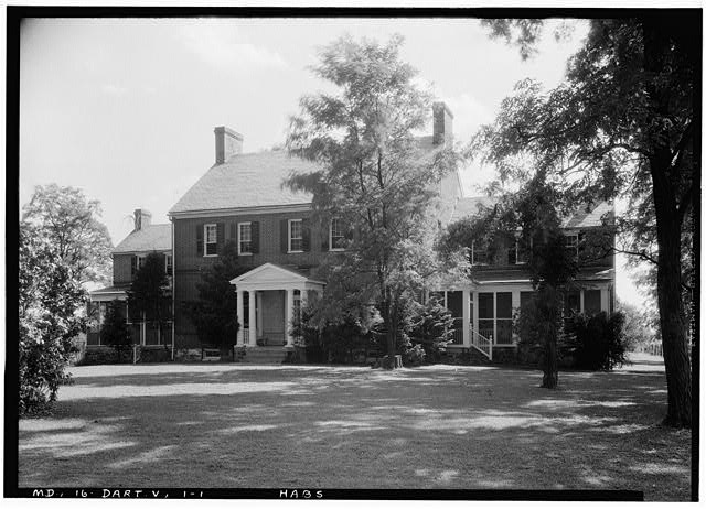 1.  Historic American Buildings Survey John O. Brostrup, Photographer September 4, 1936 2:20 P. M. VIEW FROM NORTHWEST (front) - Pleasant Hills, 14800 Fisher Avenue (State Route 107), Darnestown, Montgomery County, MD