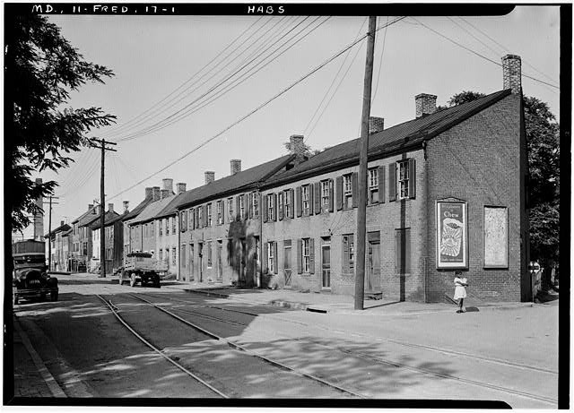 1.  Historic American Buildings Survey E.H. Pickering, Photographer Sept. 1936 - 96-120 East Street (Houses), Frederick, Frederick County, MD