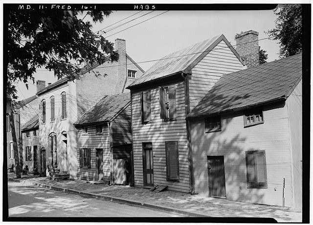 1.  Historic American Buildings Survey E.H. Pickering, Photographer Sept. 1936 - 314-322 Bentz Street (Houses), Frederick, Frederick County, MD