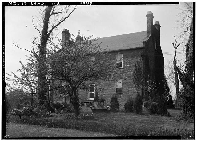 2.  Historic American Buildings Survey John O. Brostrup, Photographer April 30, 1936 9:30 A.M. VIEW FROM NORTHEAST - Beall's Pleasure, Landover Road Vicinity, Landover, Prince George's County, MD
