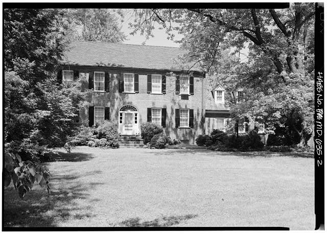 4.  VIEW OF SOUTH ELEVATION FROM THE SOUTHWEST - Beall's Pleasure, Landover Road Vicinity, Landover, Prince George's County, MD