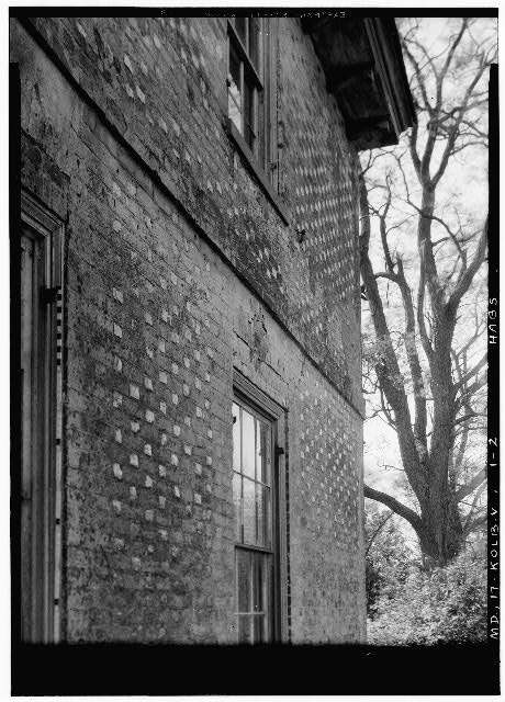 2.  Historic American Buildings Survey John O. Brostrup, Photographer October 12, 1936 11:50 A. M. DETAIL OF BRICKWORK, WEST END OF NORTH WALL - Partnership, Central Avenue (State Route 214), Largo, Prince George's County, MD