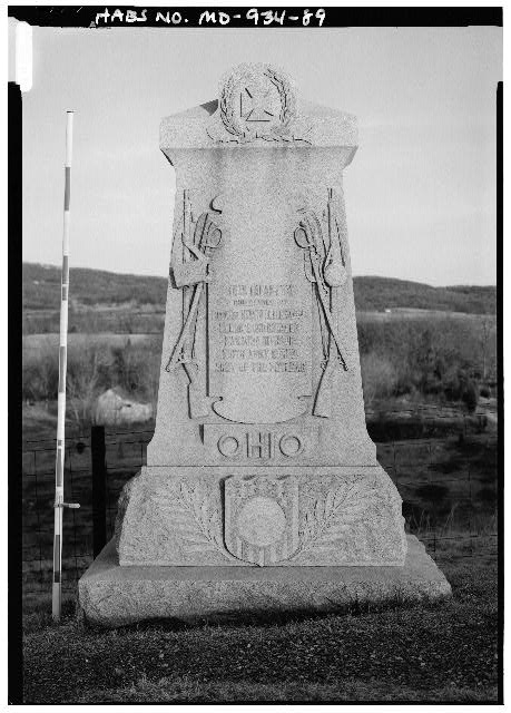 89.  36TH OHIO INFANTRY MONUMENT, EAST SIDE OF BRANCH AVENUE - Antietam National Battlefield, Sharpsburg, Washington County, MD
