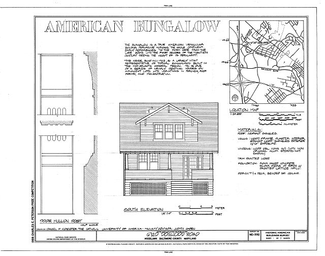 HABS MD,3-WOLA,1- (sheet 1 of 3) - 6720 Dogwood Road (House), 6720 Dogwood Road, Woodlawn, Baltimore County, MD