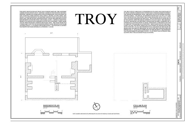 HABS MD-1210 (sheet 1 of 5) - Troy, 7150 Route 1, Elkridge, Howard County, MD