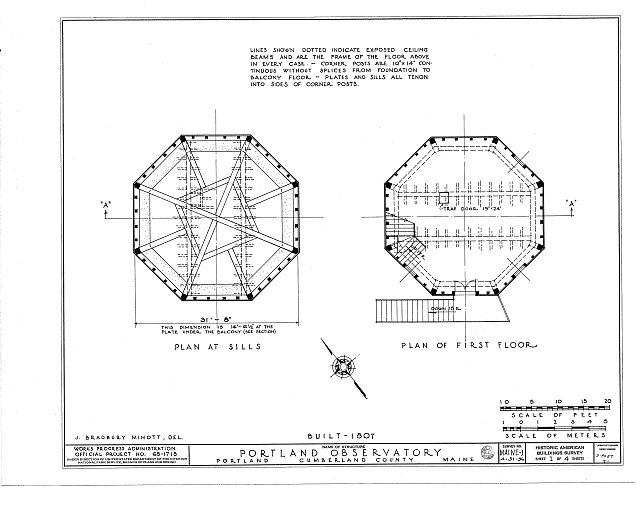HABS ME,3-PORT,7- (sheet 1 of 4) - Portland Observatory, 138 Congress Street, Portland, Cumberland County, ME