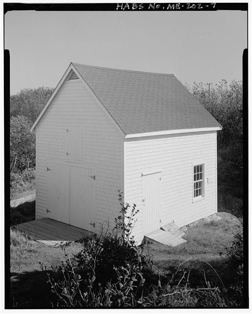 7.  Barn, view southeast, north and west sides - Monhegan Island Light Station, Monhegan Island, ten miles south by ferry from Port Clyde, Monhegan, Lincoln County, ME