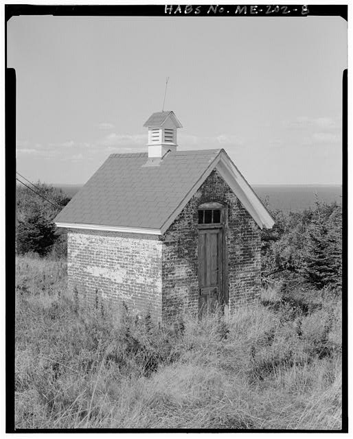 8.  Oil house, view north, southwest and southeast sides - Monhegan Island Light Station, Monhegan Island, ten miles south by ferry from Port Clyde, Monhegan, Lincoln County, ME