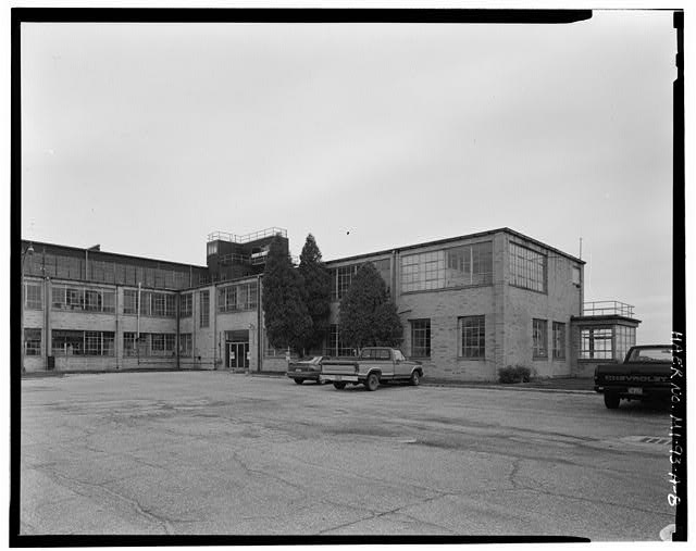 8.  View Southeast, Northwest Facade - Grosse Ile Municipal Airport, Hangar No. 1, Meridian & Groh Roads, Detroit, Wayne County, MI