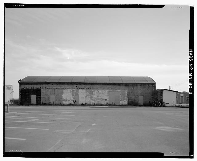 3.  VIEW FROM NORTH - Saint Paul Airport Municpal Hangar, 674 Bay Field Street, Saint Paul, Ramsey County, MN