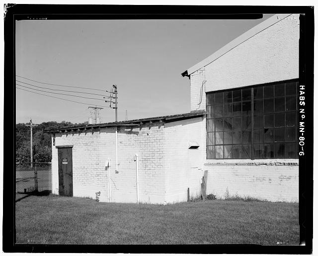 6.  VIEW OF NORTHWEST CORNER, INCLUDING ADDITION - Saint Paul Airport Municpal Hangar, 674 Bay Field Street, Saint Paul, Ramsey County, MN
