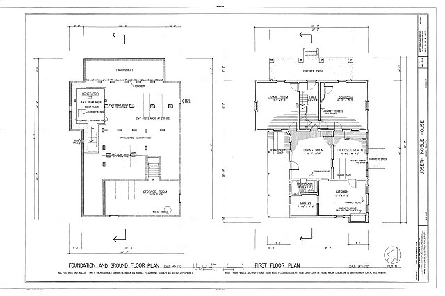 HABS MO,42-CLINT.V,1- (sheet 2 of 6) - Joseph Noble House, Route EE in LaDue, Clinton, Henry County, MO