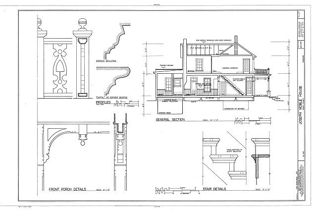 HABS MO,42-CLINT.V,1- (sheet 6 of 6) - Joseph Noble House, Route EE in LaDue, Clinton, Henry County, MO