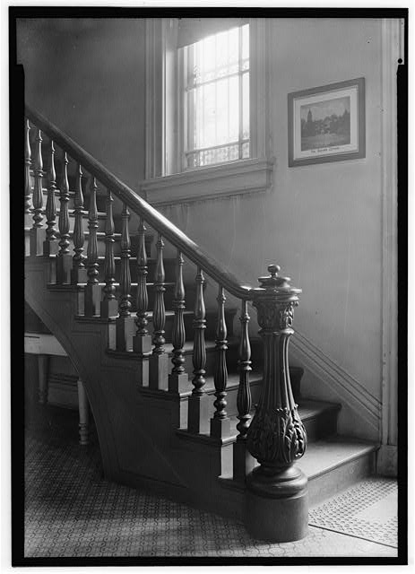 3.  STAIRWAY DETAIL - Missouri Botanical Garden, Henry Shaw Townhouse, 2345 Tower Grove Avenue, Saint Louis, Independent City, MO