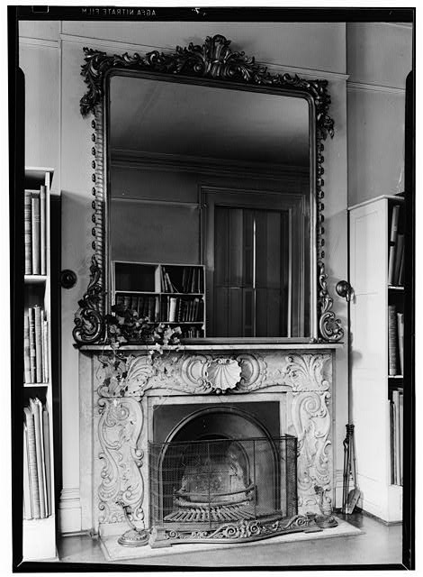 4.  MANTEL IN NORTHEAST ROOM, FIRST FLOOR - Missouri Botanical Garden, Henry Shaw Townhouse, 2345 Tower Grove Avenue, Saint Louis, Independent City, MO