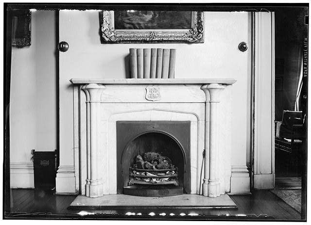 6.  MANTEL IN SOUTHEAST ROOM OF ORIGINAL HOUSE, SECOND FLOOR - Missouri Botanical Garden, Henry Shaw Townhouse, 2345 Tower Grove Avenue, Saint Louis, Independent City, MO