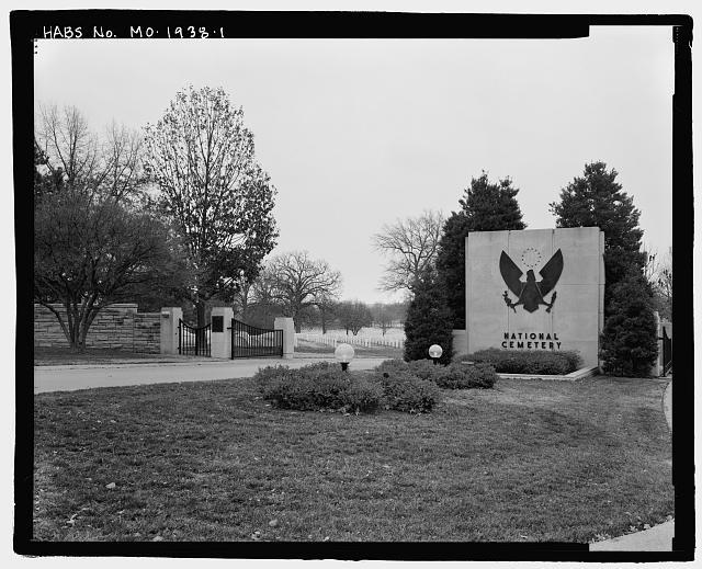 - Jefferson Barracks National Cemetery, 2900 Sheridan Road, Green Park, St. Louis County, MO