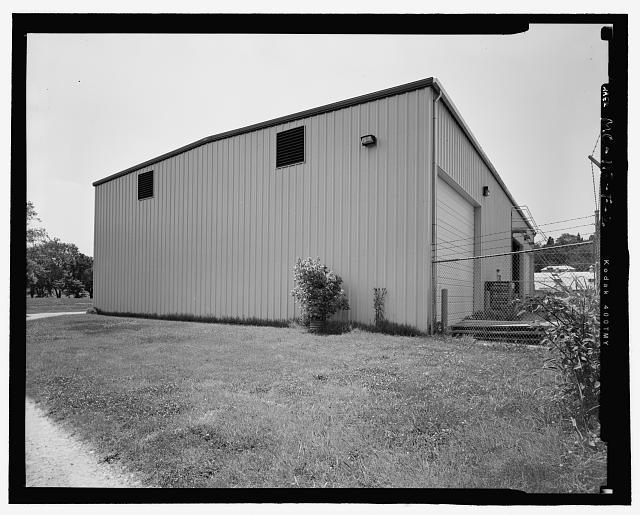 Looking Northwest at Front (south) and East Side of Warehouse - Hematite Fuel Fabrication Facility, Warehouse, 3300 State Road P, Festus, Jefferson County, MO