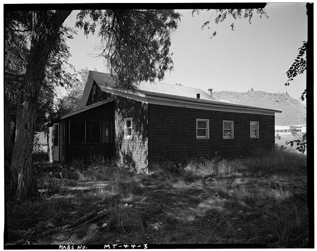 3.  Front and Right Side, Showing Side - U. S. Indian Service Laborer's Cottage, Lame Deer, Rosebud County, MT