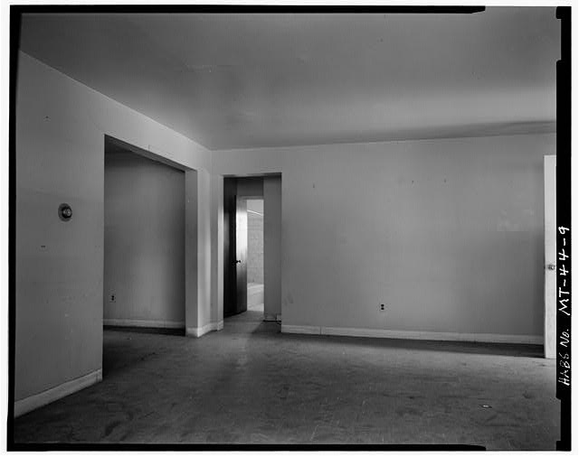 9.  Middle Living Room, Showing Toilet - U. S. Indian Service Laborer's Cottage, Lame Deer, Rosebud County, MT