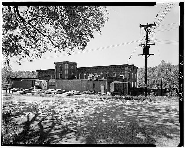 1.  JoAnn Sieburg-Baker, Photographer, April 1978. OVERALL EXTERIOR VIEW FROM NORTHWEST. - Glencoe Cotton Mills, State Routes 1598 & 1600, Glencoe, Alamance County, NC