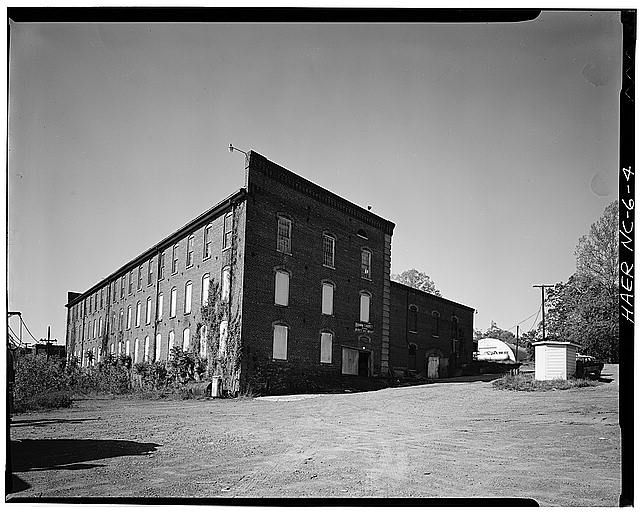 4.  JoAnn Sieburg-Baker, Photographer, April 1978. OVERALL EXTERIOR VIEW FROM SOUTHEAST. - Glencoe Cotton Mills, State Routes 1598 & 1600, Glencoe, Alamance County, NC