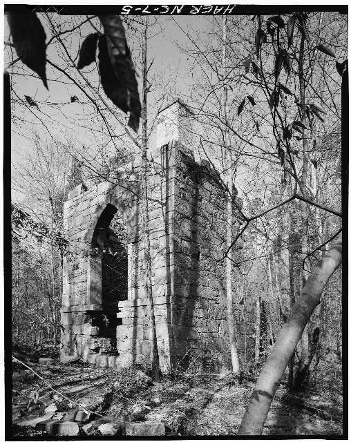 5.  Randall Page, Photographer, December 1977. SOUTHEAST VIEW. - McCulloch Gold Mill, Copper Branch, north of State Route 1153, Jamestown, Guilford County, NC