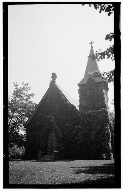 1.  Historic American Buildings Survey, Archie A. Biggs, Photographer June 24, 1937 VIEW OF FRONT AND TOWER. - St. James Episcopal Church, 766 North Main Street, Hendersonville, Henderson County, NC
