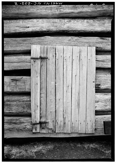 Detail of door - Pioneer Farmstead, Meat House, U.S. Route 441 (moved from NC, Cataloochee), Cherokee, Swain County, NC