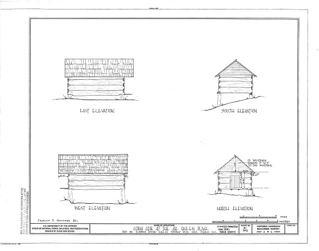 HABS NC,87-NEWGA.V,1B- (sheet 2 of 2) - Pioneer Farmstead, Corn Crib, U.S. Route 441 (moved from Deep Creek), Cherokee, Swain County, NC